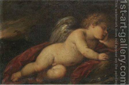 Cupid Sleeping In A Landscape by (after) Carlo Francesco Nuvolone - Reproduction Oil Painting