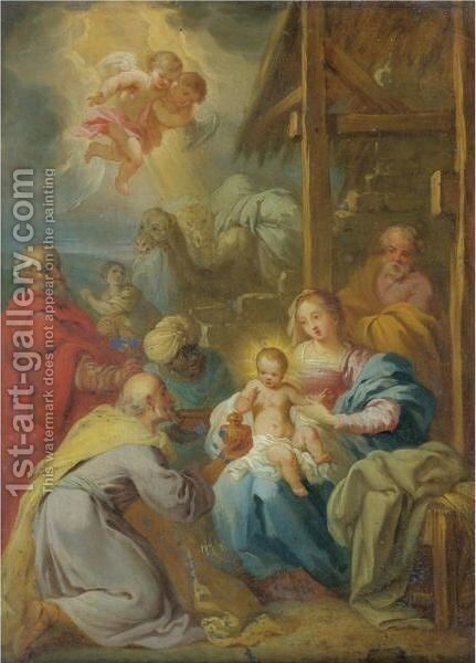 The Adoration Of The Magi 2 by Italian School - Reproduction Oil Painting