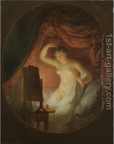 A Young Lady At Her Toilette by Alexander Laureus - Reproduction Oil Painting