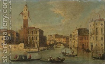 Venice, A View Of The Grand Canal With San Geremia And The Entrance To The Cannaregio by (after) (Giovanni Antonio Canal) Canaletto - Reproduction Oil Painting