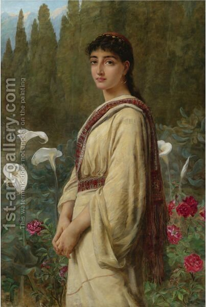 An Eastern Lily by Edwin Longsden Long - Reproduction Oil Painting