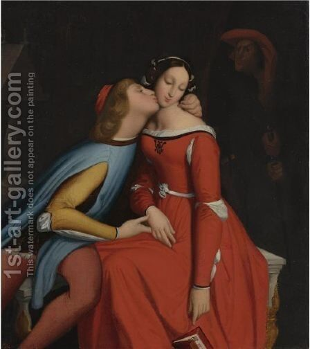Paolo And Francesca 3 by Jean Auguste Dominique Ingres - Reproduction Oil Painting