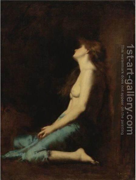 Mary Magdalene by Jean-Jacques Henner - Reproduction Oil Painting