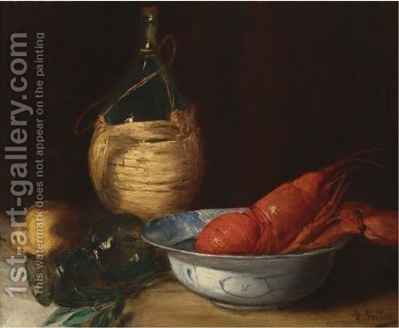 Still Life With Lobster by Antoine Vollon - Reproduction Oil Painting