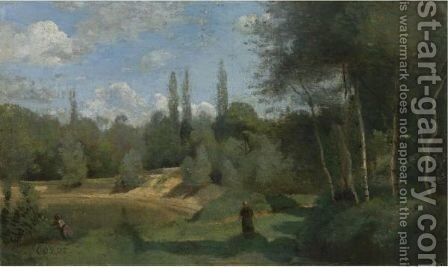 Ville D'Avray 4 by Jean-Baptiste-Camille Corot - Reproduction Oil Painting