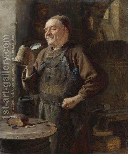 The Brewmaster by Eduard Von Grutzner - Reproduction Oil Painting