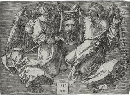 The Sudarium Held By Two Angels by Albrecht Durer - Reproduction Oil Painting