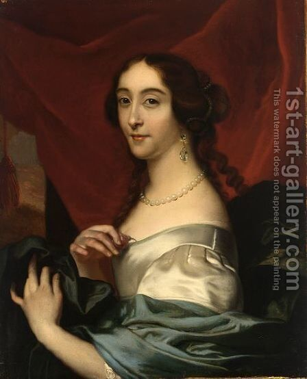 A Portrait Of A Lady, Bust Length by Barent Graat - Reproduction Oil Painting