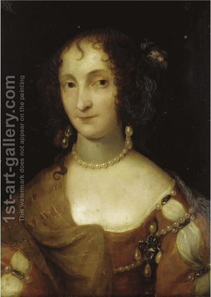 Portrait Of A Lady by (after) Davis, Theodore Russell - Reproduction Oil Painting