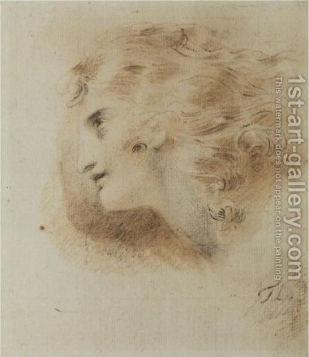 Study For The Head Of A Man by Sir Thomas Lawrence - Reproduction Oil Painting