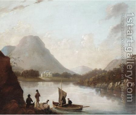 Setting Sail With A White House In The Distance by (after) Alexander Nasmyth - Reproduction Oil Painting