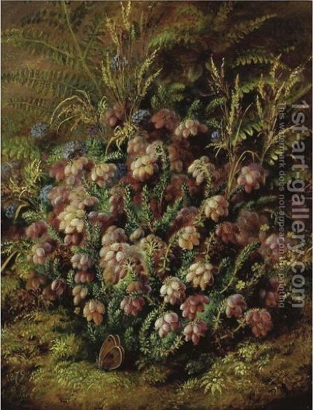 Butterfly In The Heather by Albert Durer Lucas - Reproduction Oil Painting