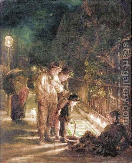 The Street Artist by Alfred Morgan - Reproduction Oil Painting