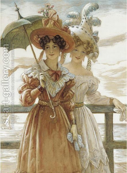 Sunday Afternoon by Auguste Jules Bouvier, N.W.S. - Reproduction Oil Painting