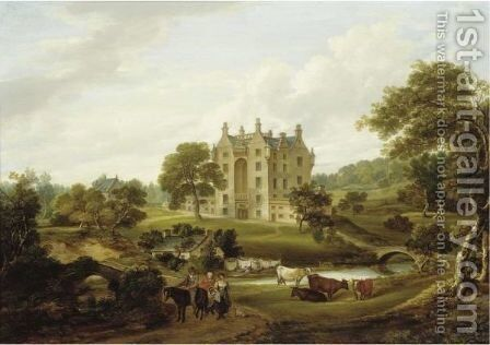 Craigstone, Aberdeenshire by (after) James Leakey - Reproduction Oil Painting