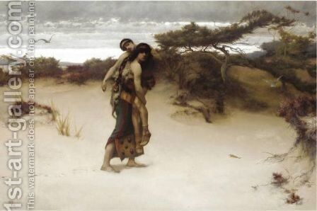 Rescue by Herbert Gandy - Reproduction Oil Painting