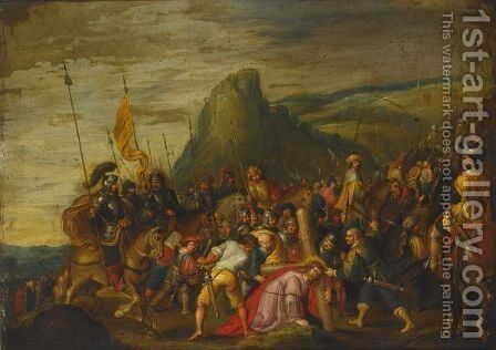 Christ On The Road To Calvary 3 by (after) Frans II Francken - Reproduction Oil Painting