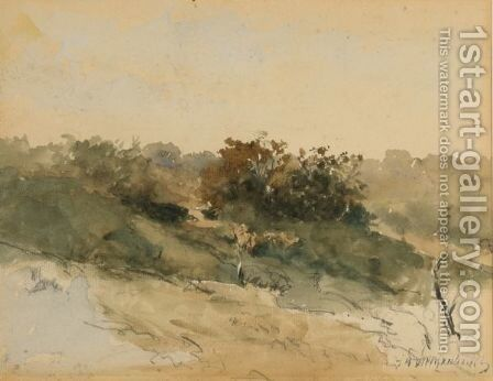 A Dune Landscape by Jan Hendrik Weissenbruch - Reproduction Oil Painting