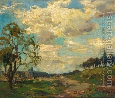 A Summer Landscape by Charles Dankmeijer - Reproduction Oil Painting