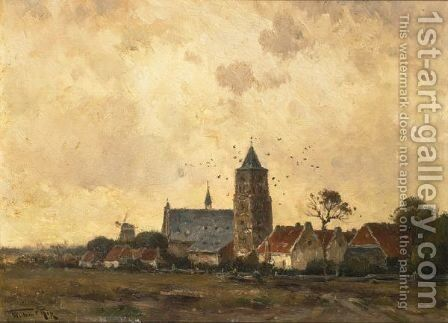 A View Of Wouw by Willem Cornelis Rip - Reproduction Oil Painting