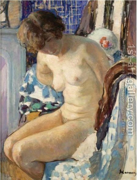Nu Assis 2 by Henri Lebasque - Reproduction Oil Painting