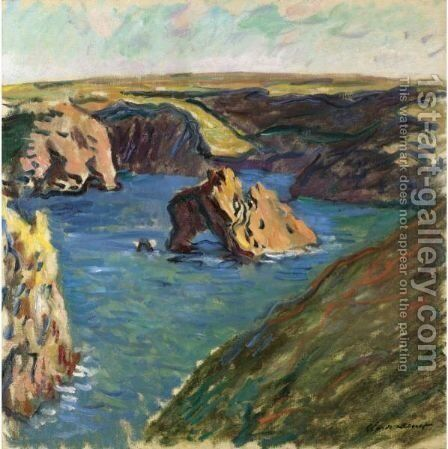 Belle-Ile by Claude Oscar Monet - Reproduction Oil Painting