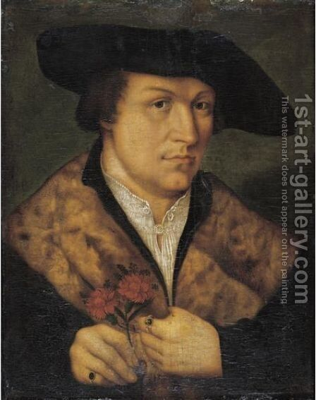 Portrait Of A Man by (after) Leonhard Beck - Reproduction Oil Painting