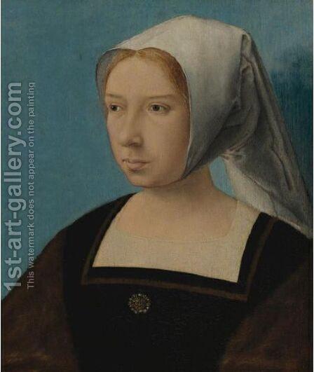 Portrait Of A Woman 2 by Dutch School - Reproduction Oil Painting