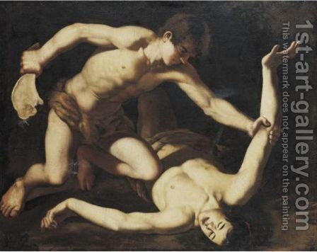 Cain Slaying Abel by (after) Filippo Vitale - Reproduction Oil Painting