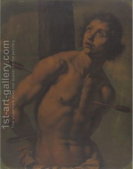 St. Sebastian by (after) Ottavio Vannini - Reproduction Oil Painting