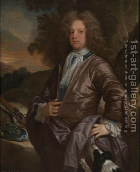 Portrait Of A Gentleman, Said To Be William Paul, Esq. by Johann Closterman (after) - Reproduction Oil Painting
