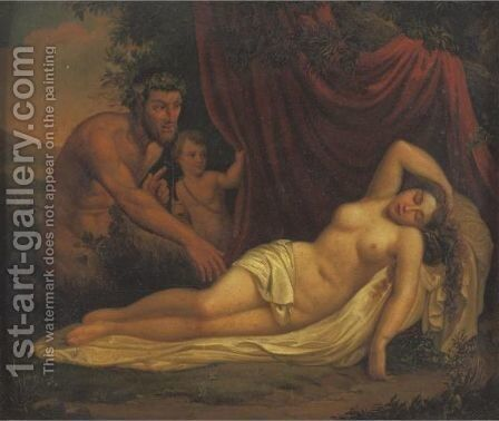 Faun And Venus by Italian School - Reproduction Oil Painting