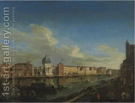 The Grand Canal by (after) (Giovanni Antonio Canal) Canaletto - Reproduction Oil Painting