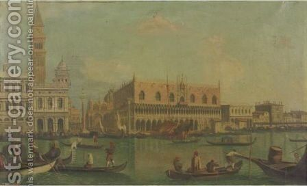 View Of Palazzo Ducale by (after) (Giovanni Antonio Canal) Canaletto - Reproduction Oil Painting
