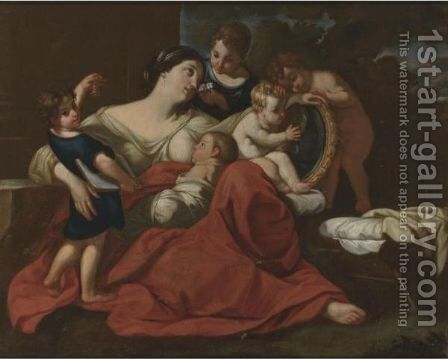 The Five Senses by (after) Carlo Cignani - Reproduction Oil Painting