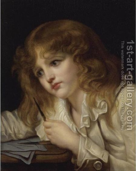 The Young Mathematician by Jeanne-Philiberte Ledoux - Reproduction Oil Painting
