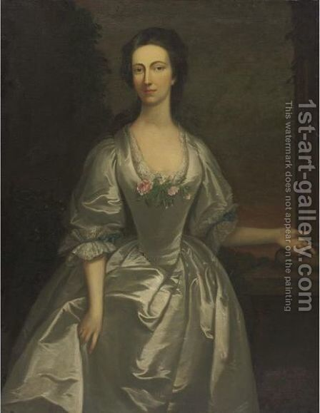 Portrait Of Martha Simpson by (after) Hudson, Thomas - Reproduction Oil Painting