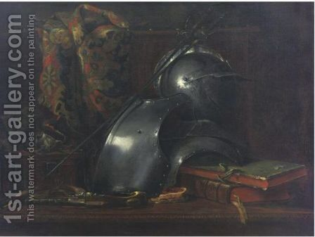 Still Life With Armor by Charles Royer - Reproduction Oil Painting