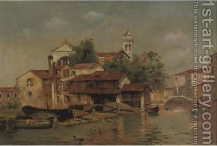 A View Of Venice 2 by Antonio Maria de Reyna - Reproduction Oil Painting