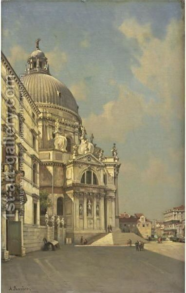 Santa Maria Della Salute by Amédée Rosier - Reproduction Oil Painting