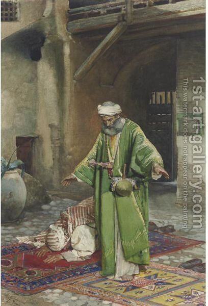 At Prayer by Cesare Maccari - Reproduction Oil Painting