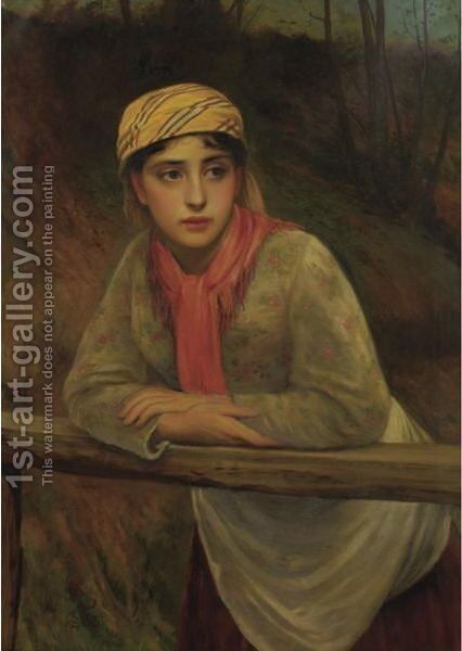 The Trysting Place by Charles Sillem Lidderdale - Reproduction Oil Painting