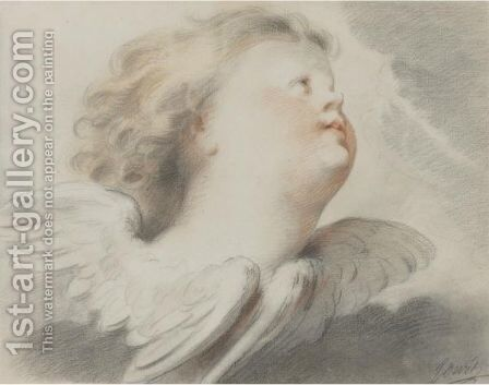 A Seraph Amongst The Clouds by Jacob de Wit - Reproduction Oil Painting