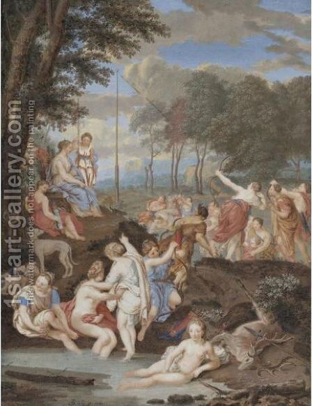Diana And Her Nymphs by Dutch School - Reproduction Oil Painting