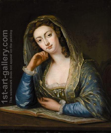 Portait Of Margaret Woffington (1720-1760) by (after) Eccardt, John Giles - Reproduction Oil Painting