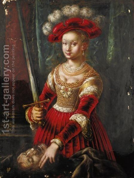 Judith And Holofernes by (after) Lucas The Elder Cranach - Reproduction Oil Painting