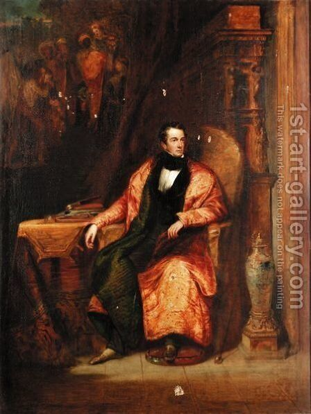 Portrait Of A Gentleman In His Sitting Room by (after) Pickersgill, Henry William - Reproduction Oil Painting