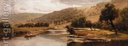 An Afternoon On The River by Edward Henry Holder - Reproduction Oil Painting