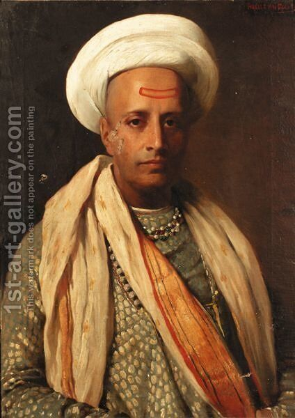 A Sultan by Horace van Truith - Reproduction Oil Painting