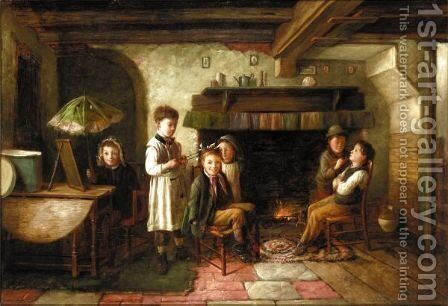 Amateur Theatricals by Charles Hunt - Reproduction Oil Painting